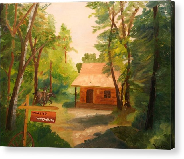 Landscape Acrylic Print featuring the painting The Getaway by Marilyn Tower