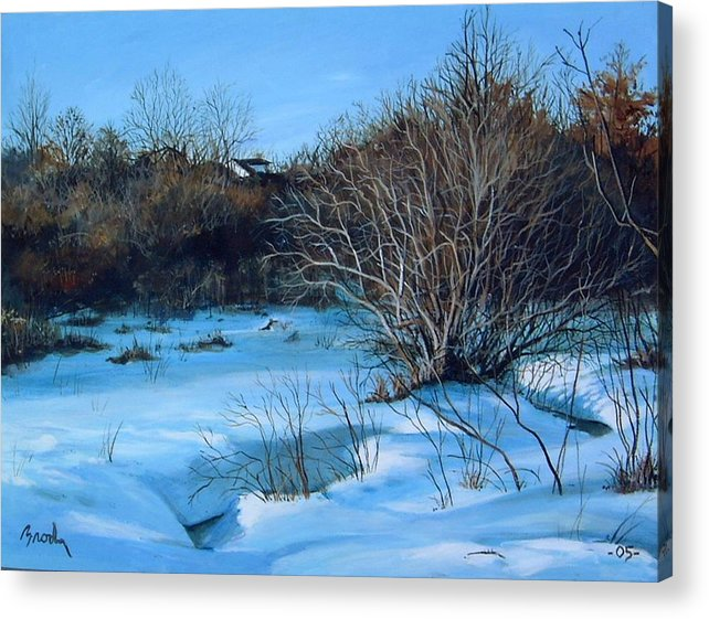 Landscape Acrylic Print featuring the painting Winter by William Brody