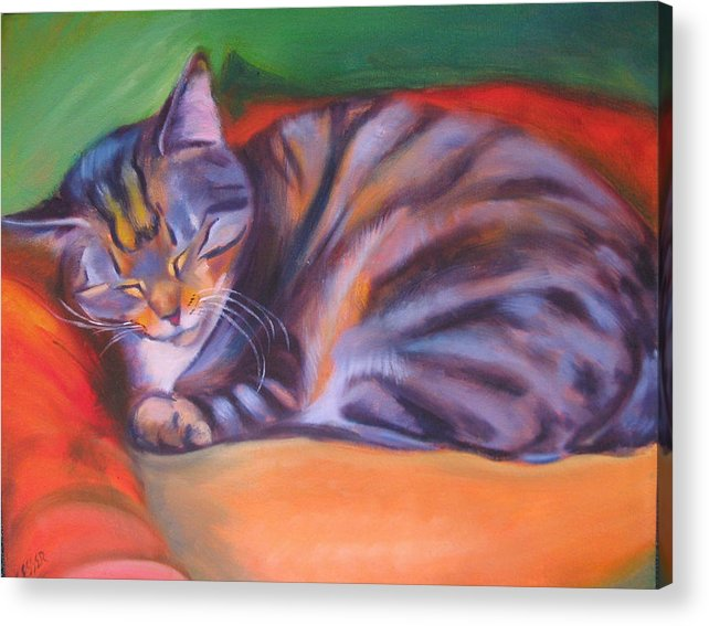 Acrylic Print featuring the painting Rescued by Kaytee Esser
