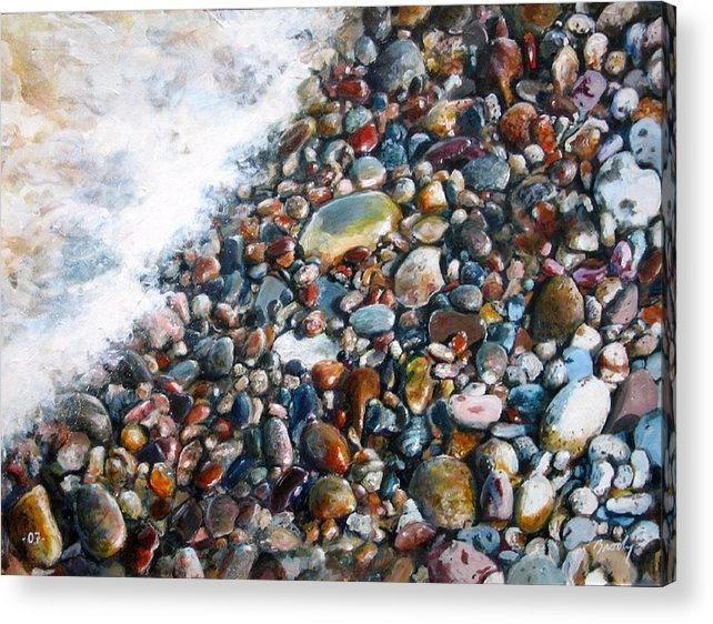 Stones Acrylic Print featuring the painting A Treasure Between by William Brody