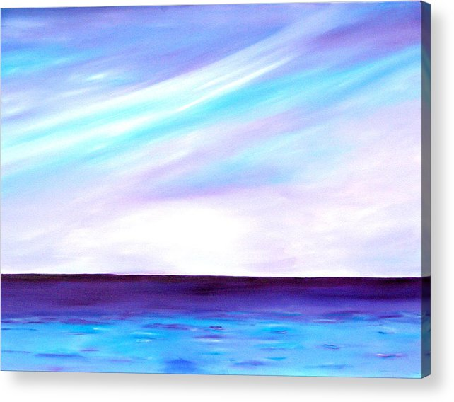 Caribbean Acrylic Print featuring the painting Calm Seas by Sula Chance