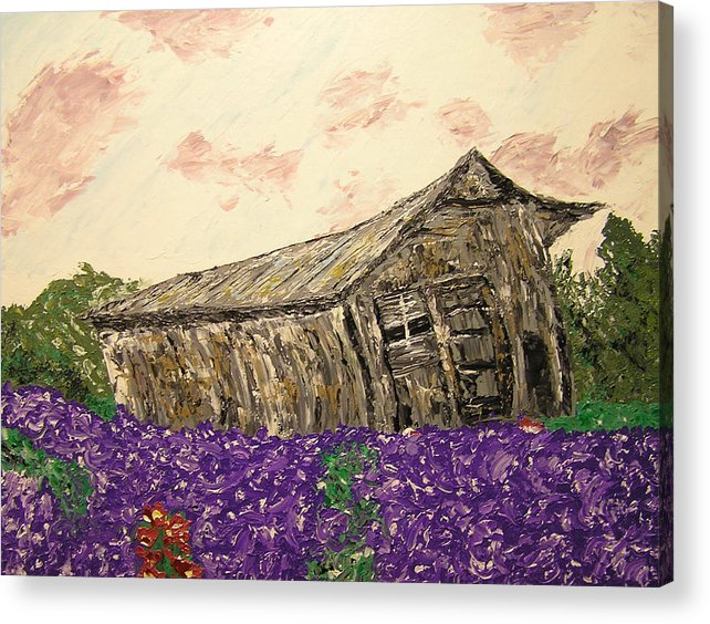 Landscape Acrylic Print featuring the painting Return To Serenity by Ricklene Wren