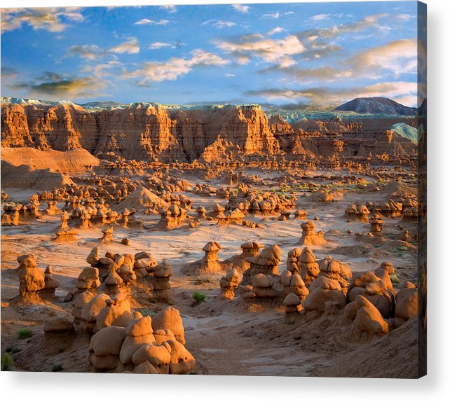 Goblin Valley State Park Acrylic Print featuring the photograph Goblin Valley State Park Utah by Utah Images