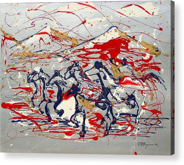 Freedom On The Open Range Acrylic Print featuring the painting Freedom On The Open Range by J R Seymour