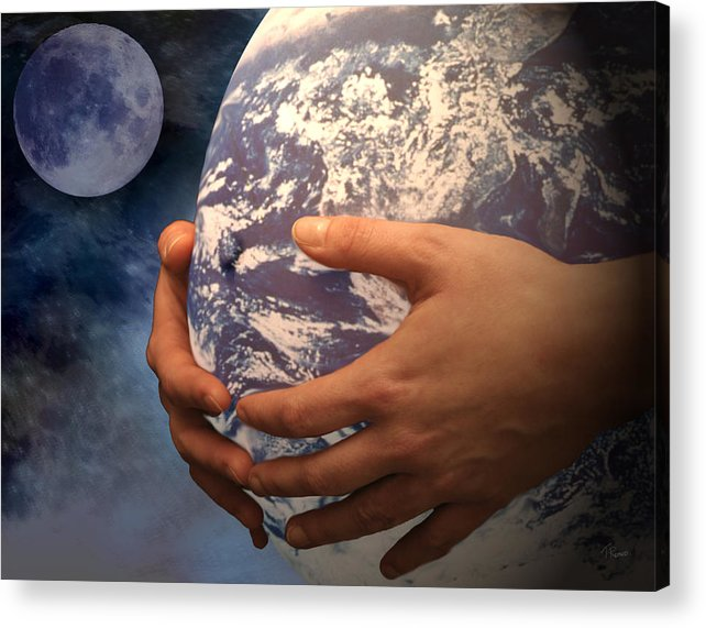 Peace Project Acrylic Print featuring the digital art Peace On Earth Gaia by Tom Romeo