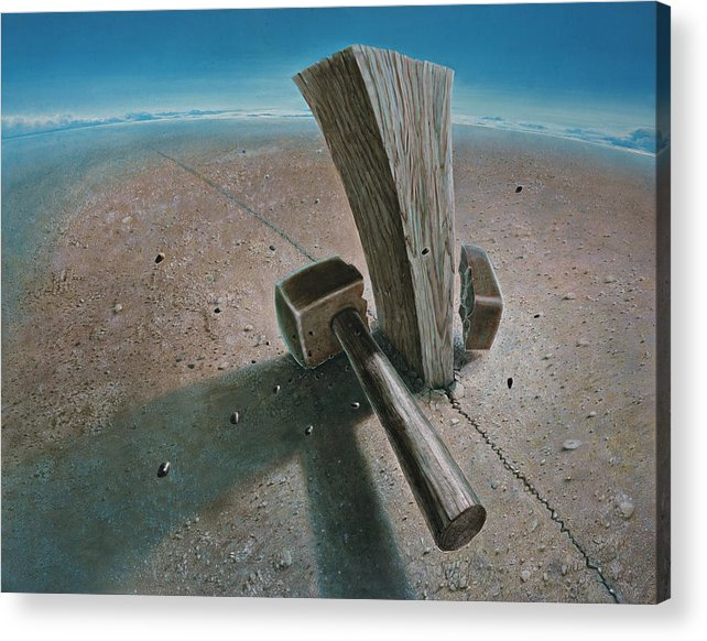 Concept Acrylic Print featuring the painting The Failure by De Es Schwertberger