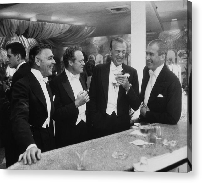 Jimmy Stewart Acrylic Print featuring the photograph Kings Of Hollywood by Slim Aarons