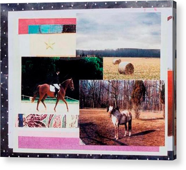 Horse Acrylic Print featuring the mixed media Country Collage 6 by Mary Ann Leitch