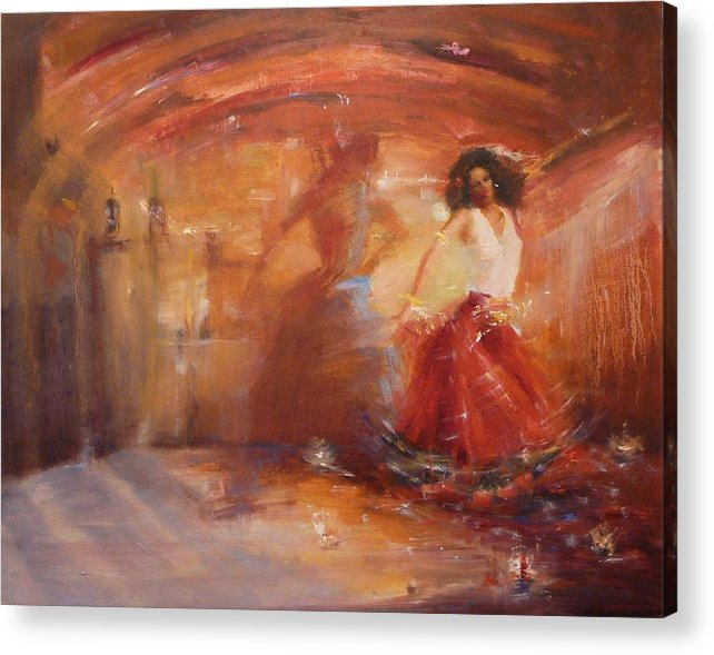Dance Acrylic Print featuring the painting Sold Bohemian by Irena Jablonski