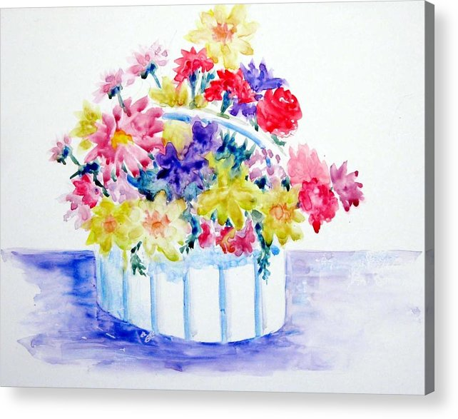 Flowers Acrylic Print featuring the painting Spring Bouquet by Marsha Elliott