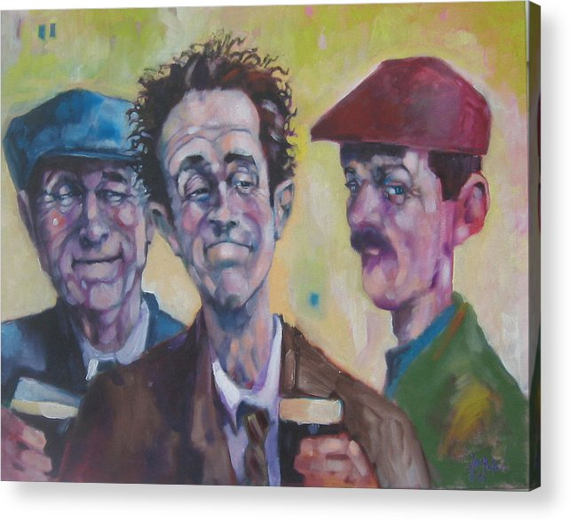 Figure Acrylic Print featuring the painting The Inside Joke by Kevin McKrell
