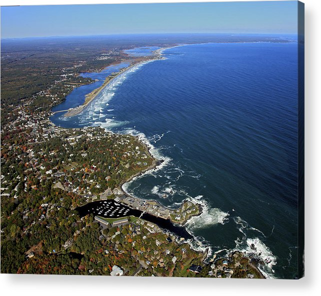 America Acrylic Print featuring the photograph Perkins Cove, Ogunquit Beach, Ogunquit by Dave Cleaveland