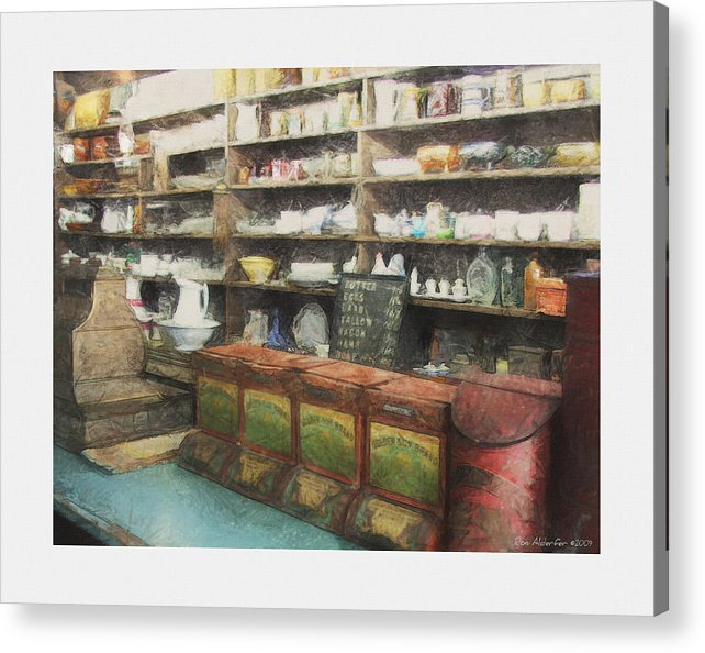 Digital Acrylic Print featuring the photograph General Store by Ron Alderfer