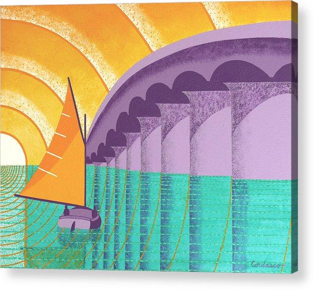 Sarasota Acrylic Print featuring the painting Sarasota Sail by James Cordasco