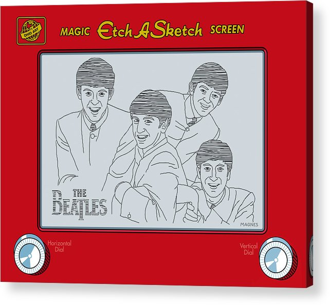 Beatles Acrylic Print featuring the digital art The Beatles by Ron Magnes