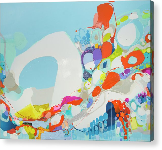 Abstract Acrylic Print featuring the painting When Alexa Moved In by Claire Desjardins