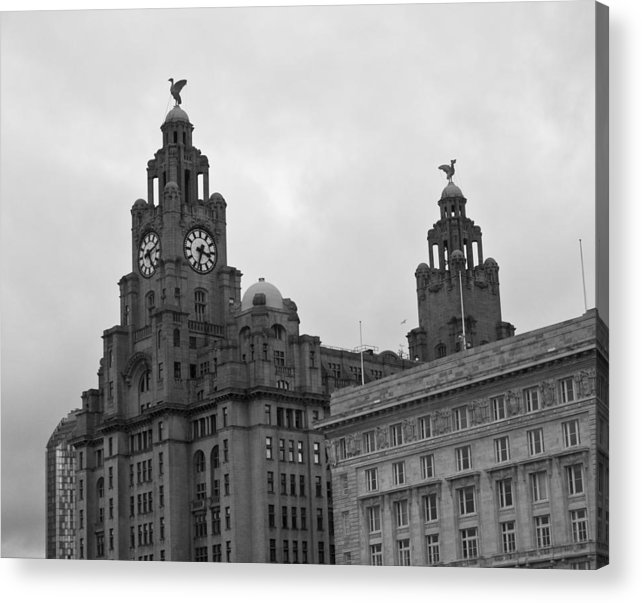 Royal Liver Building Acrylic Print featuring the photograph Royal Liver Building by Georgia Fowler
