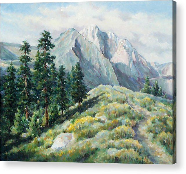 Landscape Acrylic Print featuring the painting Convict Lake Guardians by Don Trout