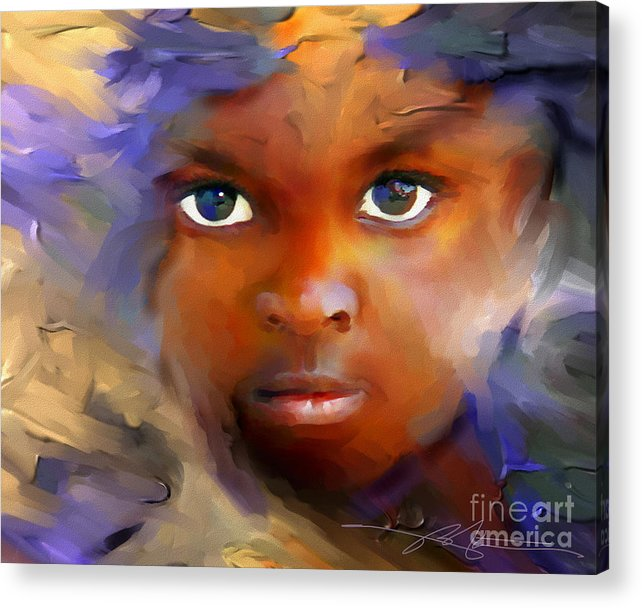 Haiti Acrylic Print featuring the painting Every Child by Bob Salo