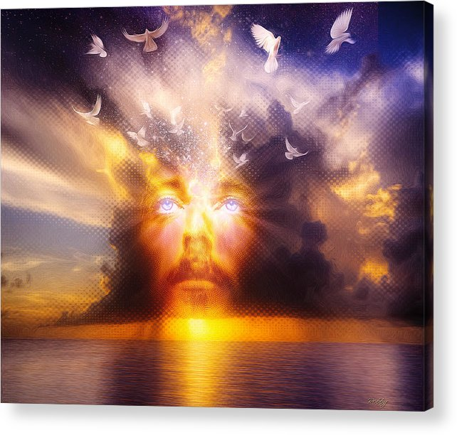 Jesus Acrylic Print featuring the painting The Son by Robby Donaghey