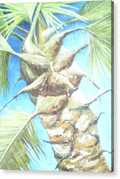 Palm Acrylic Print featuring the painting Into The Palm by Dennis Vebert
