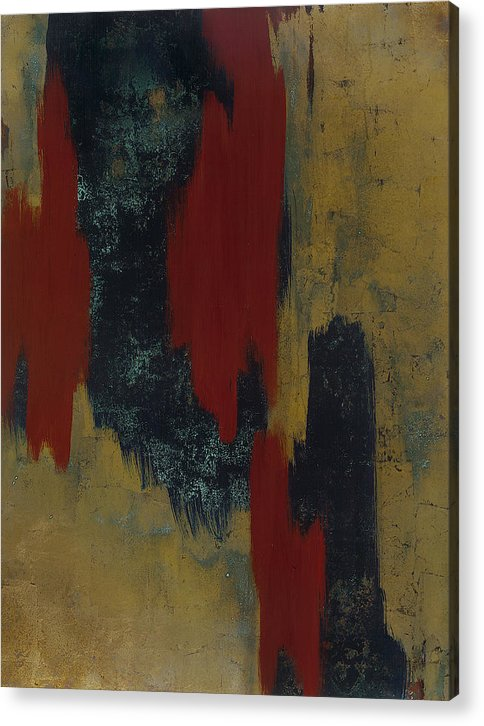 Abstract Acrylic Print featuring the painting Kline 1 by Wayne Berger