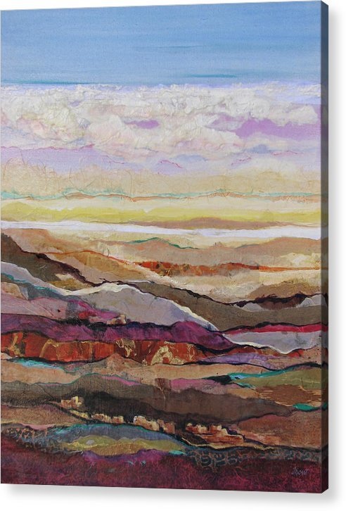 Southwest Mixed Media Acrylic Print featuring the painting Arizona Reflections Number Four by Don Trout