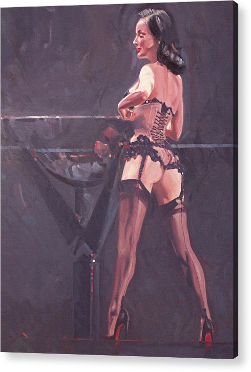 Female Form Acrylic Print featuring the painting Dita Von Teese 5 by Charles Willmott