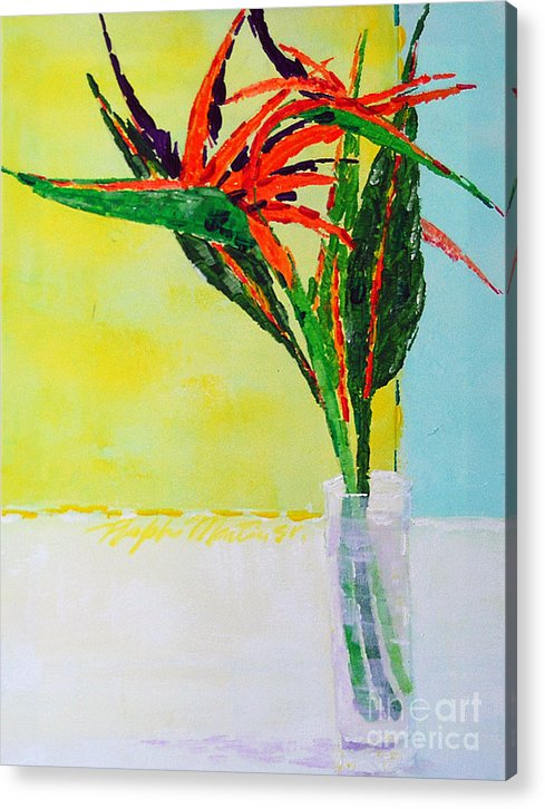 Flowers Acrylic Print featuring the painting Flower Power by Art Mantia