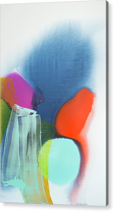 Abstract Acrylic Print featuring the painting Being Sincere by Claire Desjardins