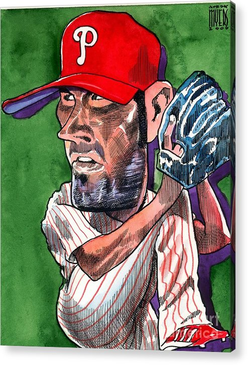 Phillies Acrylic Print featuring the painting World Series Mvp by Robert Myers
