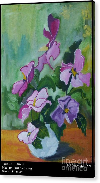 Acrylic Print featuring the painting Still Life 2 by Megha Madan