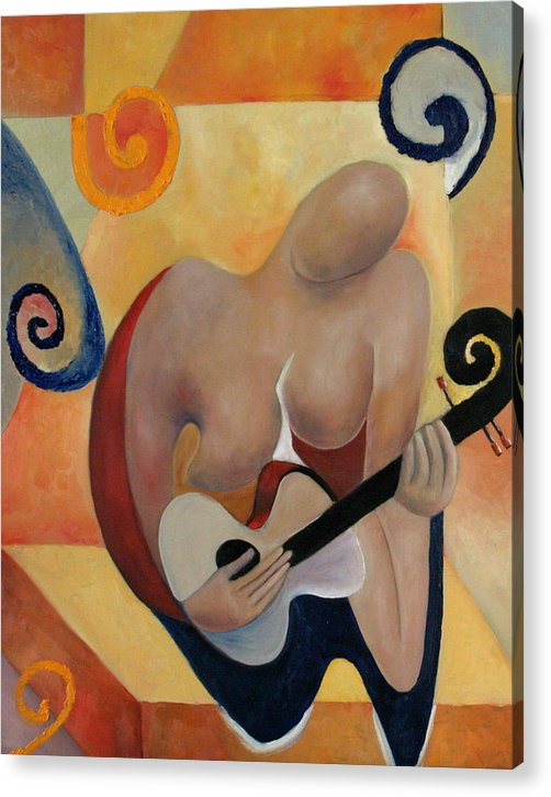 Music Acrylic Print featuring the painting Gypsy Blues by Niki Sands