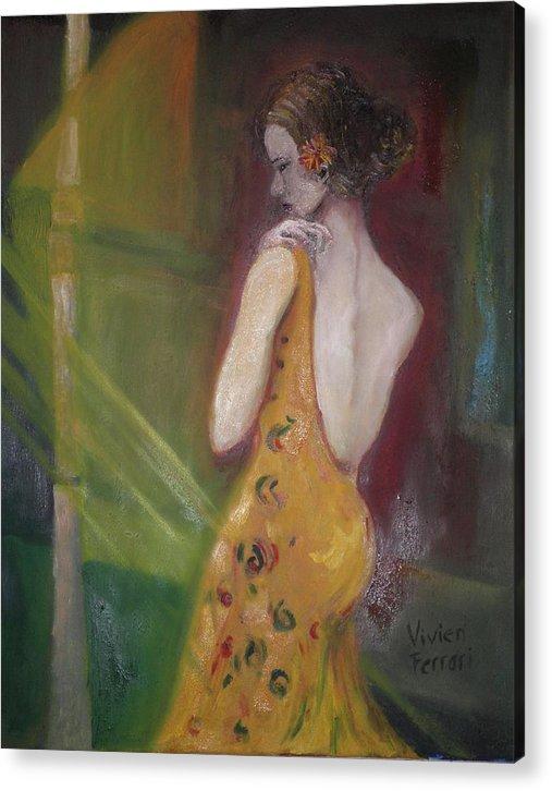 Figurative Acrylic Print featuring the painting Lili by Vivien Ferrari