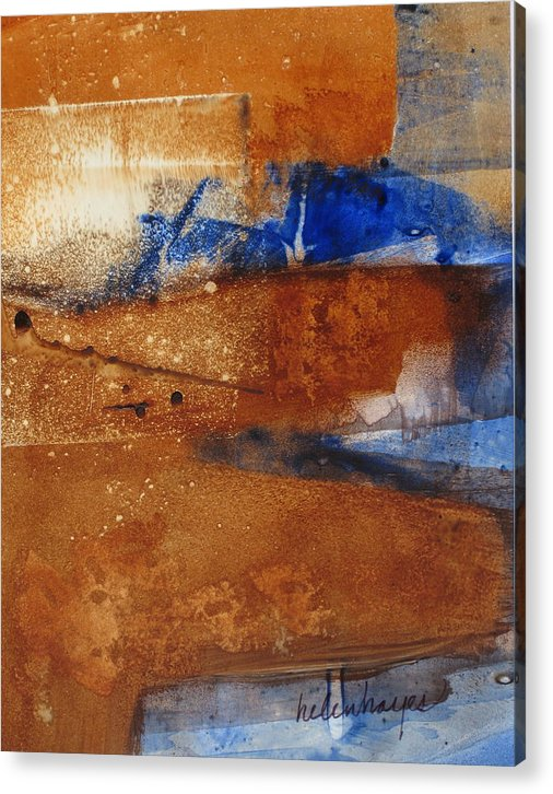 Abstract: Brown Acrylic Print featuring the painting Shadows II by Helen Hayes