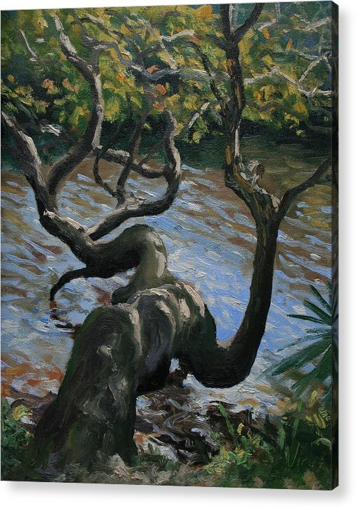 Oil Painting Acrylic Print featuring the painting Hanging Out by Michael Vires