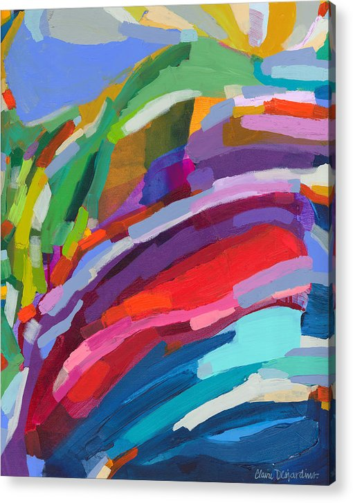 Abstract Acrylic Print featuring the painting Felicity by Claire Desjardins