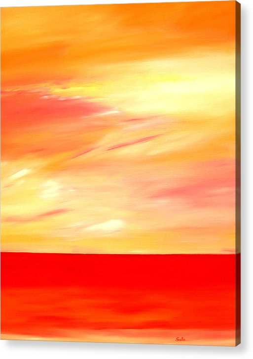 Caribbean Acrylic Print featuring the painting Sorbet Sky by Sula Chance