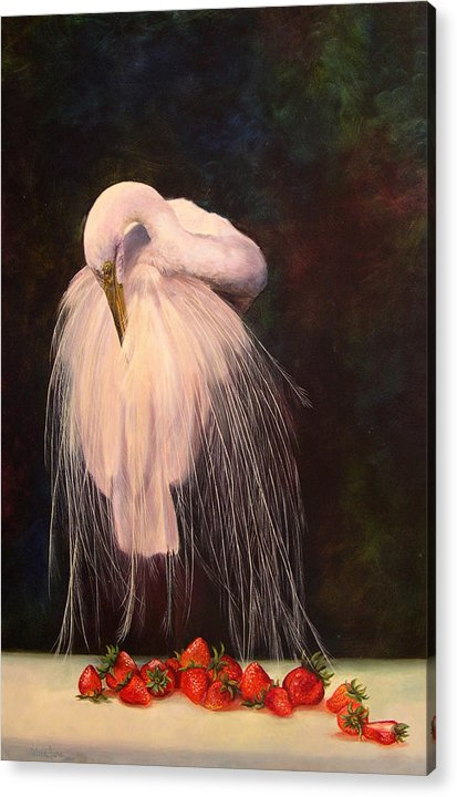 Bird Acrylic Print featuring the painting Wild And Sweet 1 by Valerie Aune