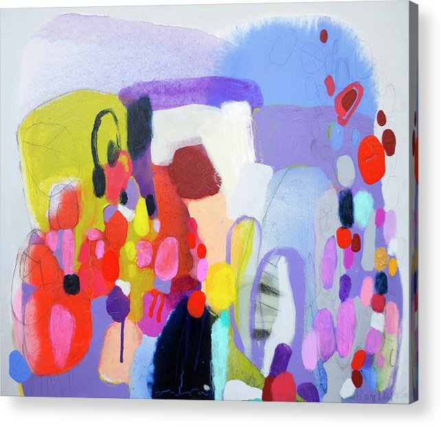 Abstract Acrylic Print featuring the painting On My Mind by Claire Desjardins
