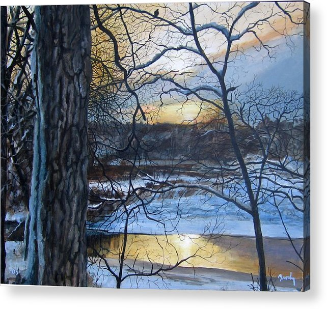 Landscape Acrylic Print featuring the painting The Watcher by William Brody