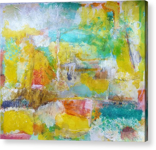 Abstract Acrylic Print featuring the painting Walking Home by Patricia Byron