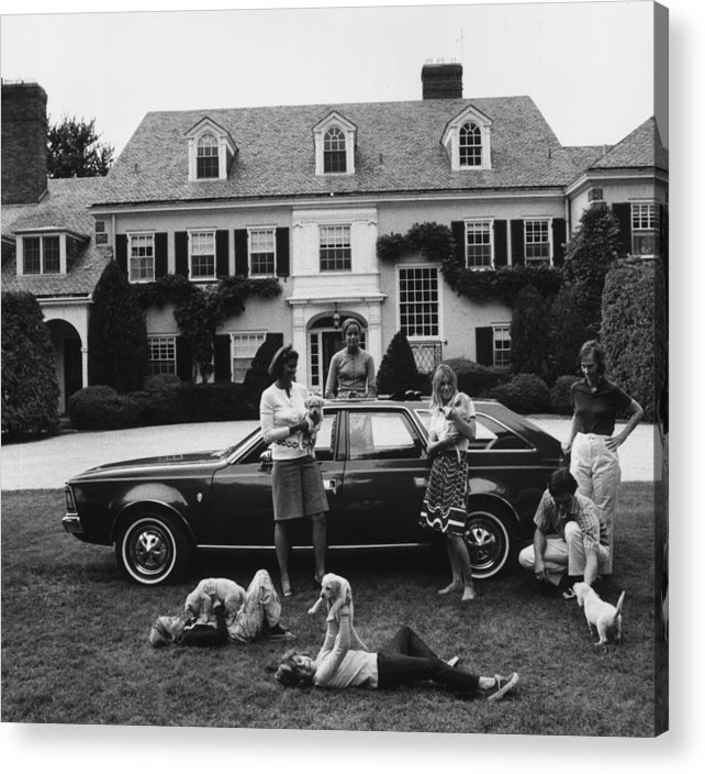 Pets Acrylic Print featuring the photograph Chapin Family by Slim Aarons