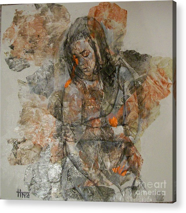 Figurative Acrylic Print featuring the painting Changing by Tina Siddiqui