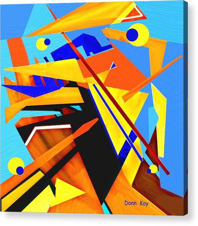 Abstra T Acrylic Print featuring the painting Google Eyes by Donn Kay