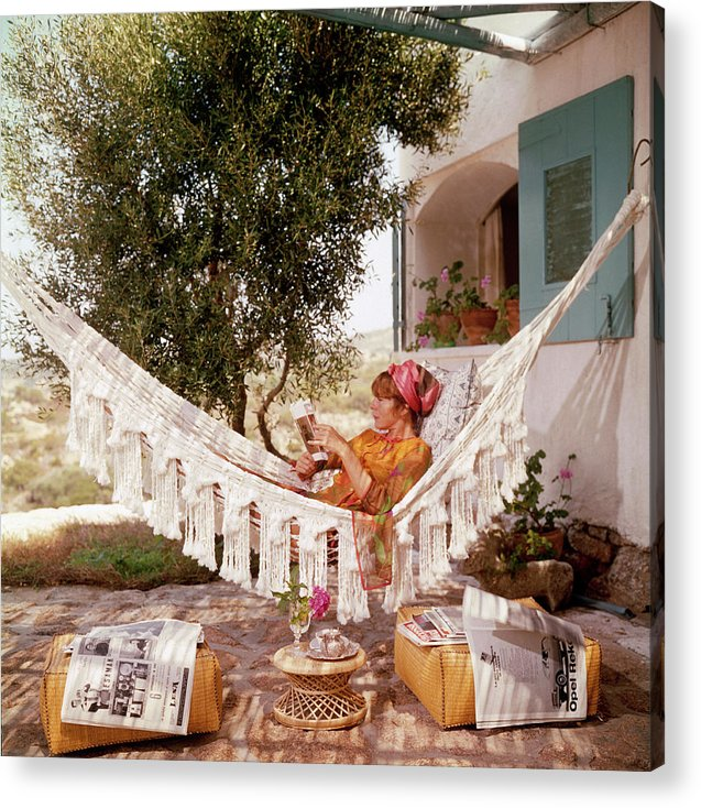 Bettina Graziani Acrylic Print featuring the photograph Bettina Graziani by Slim Aarons