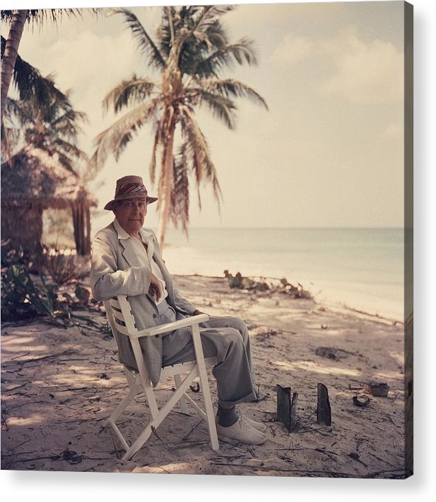 Straw Hat Acrylic Print featuring the photograph Poets Paradise by Slim Aarons