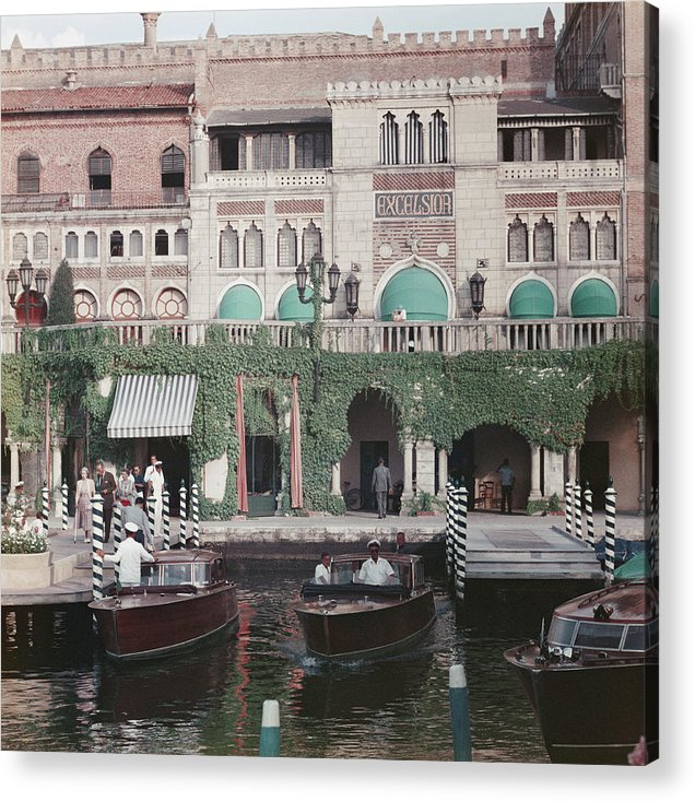 People Acrylic Print featuring the photograph Westin Excelsior by Slim Aarons