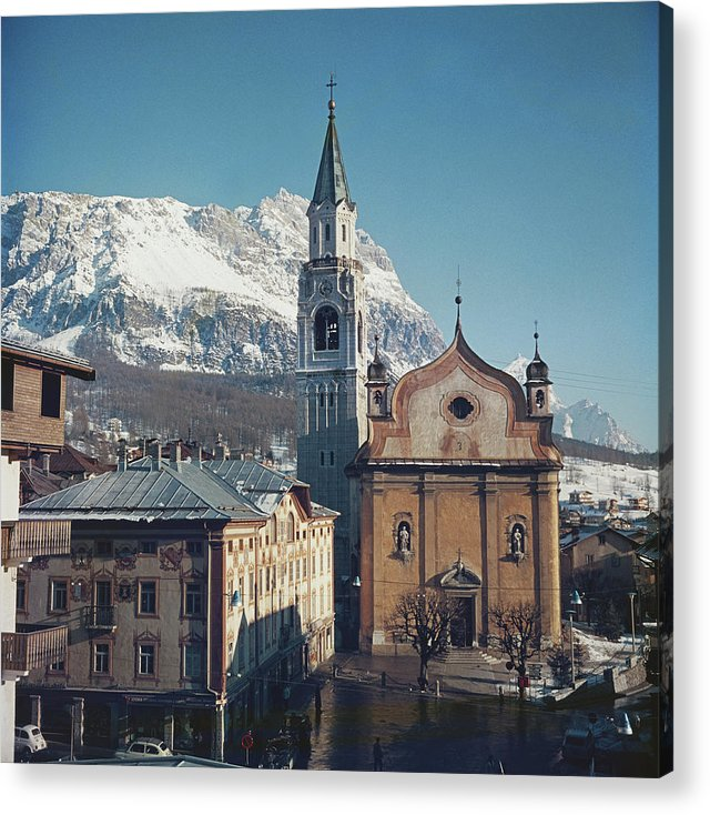 European Alps Acrylic Print featuring the photograph Cortina Dampezzo by Slim Aarons