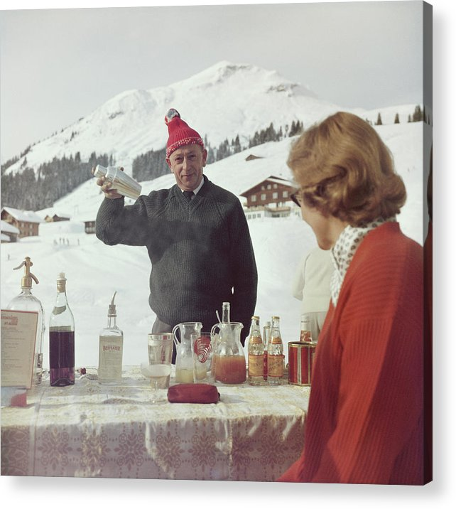 Mixing Acrylic Print featuring the photograph Lech Ice Bar by Slim Aarons